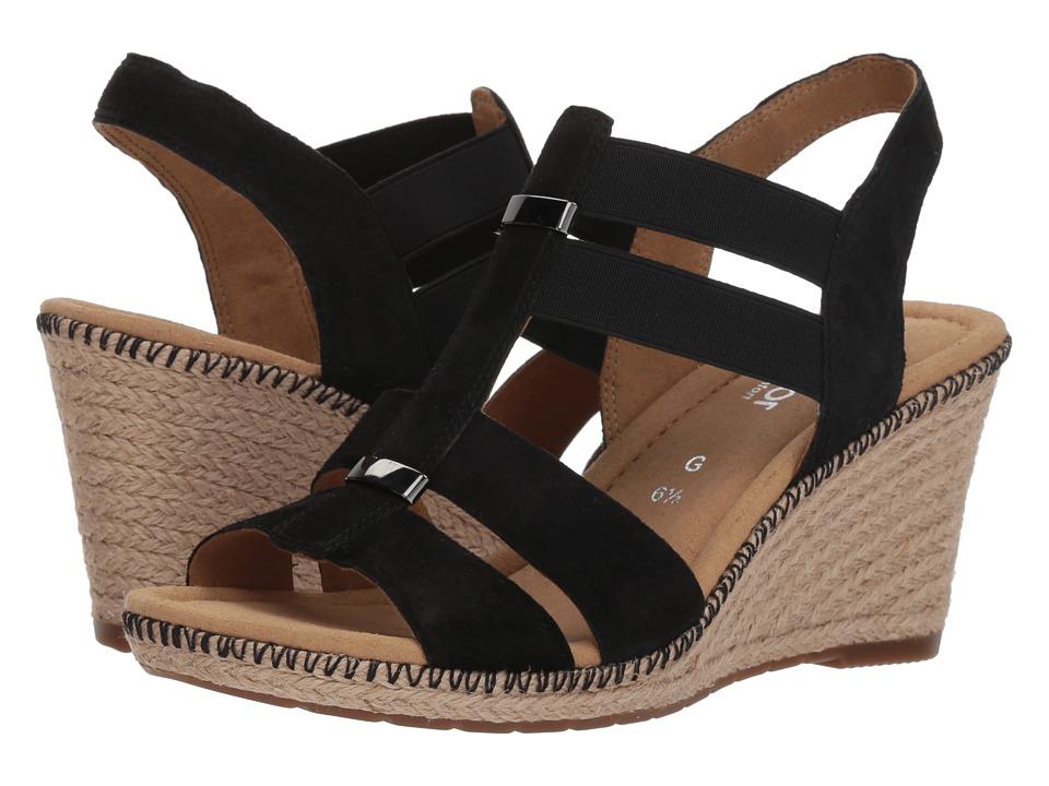 Gabor Gabor 82.823 (Black Samtchevreau) Women's Dress Sandals