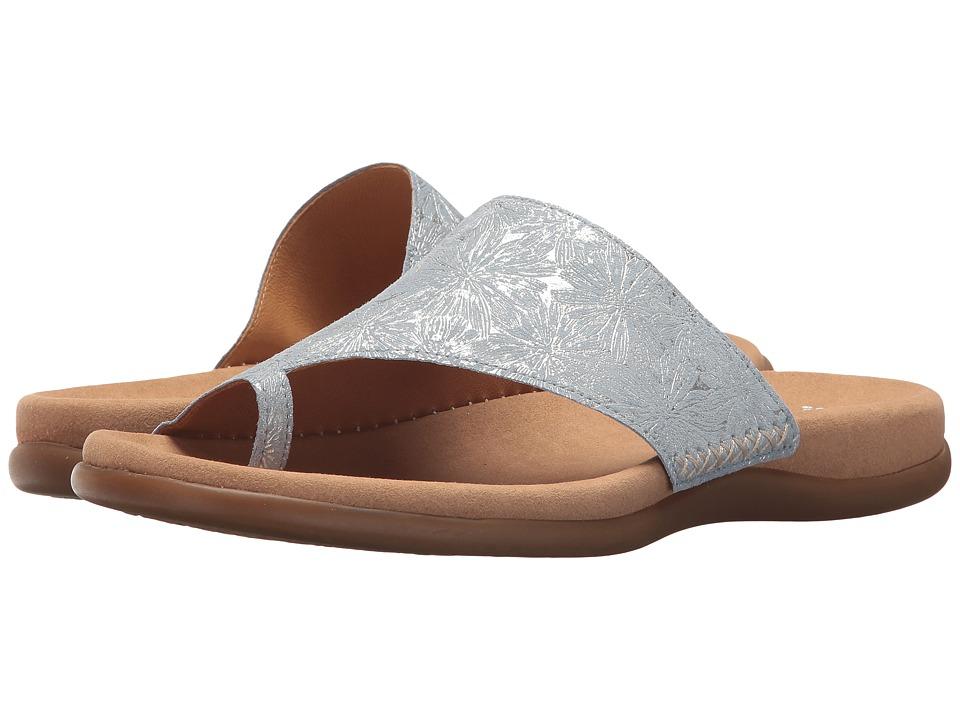 Gabor Gabor 83.700 (Sky Blue Metallic Flower) Women's Shoes