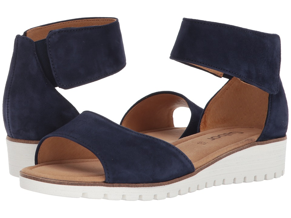 Gabor - Gabor 84.570 (Blue Samtchevreau) Women's Dress Sandals
