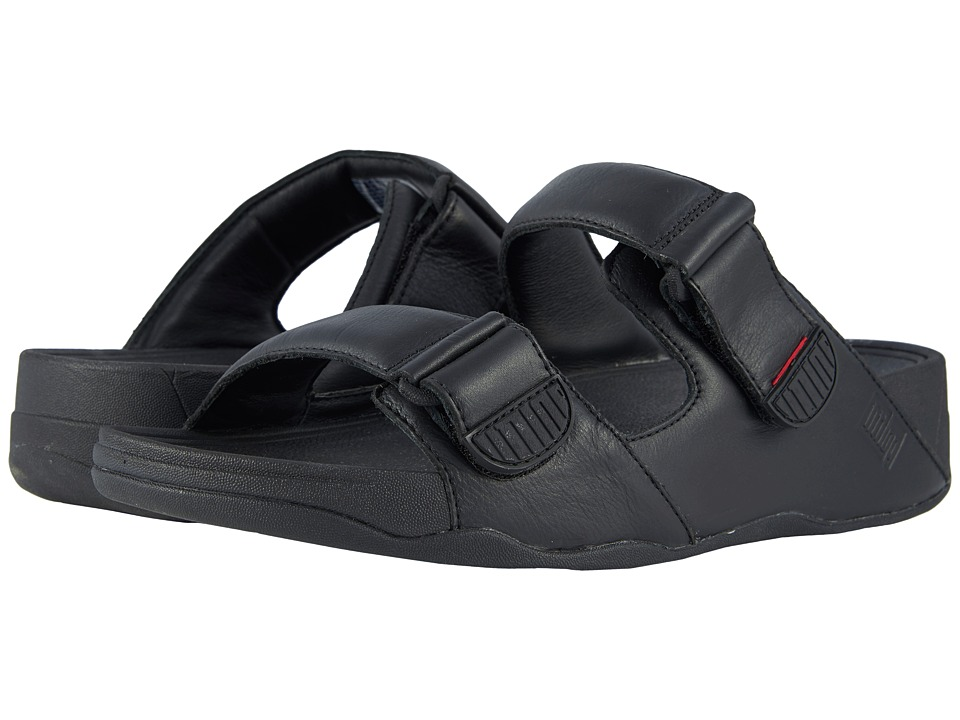 FitFlop - Gogh Moc Slide (Black) Mens Sandals
