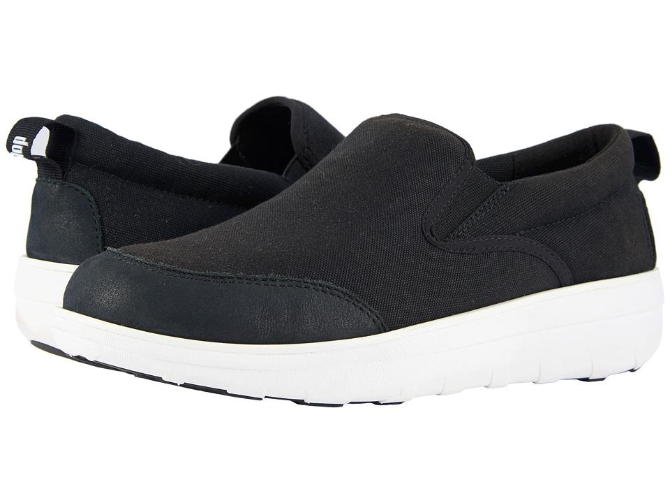FitFlop - Loaff Skate (Black) Mens Slip on  Shoes