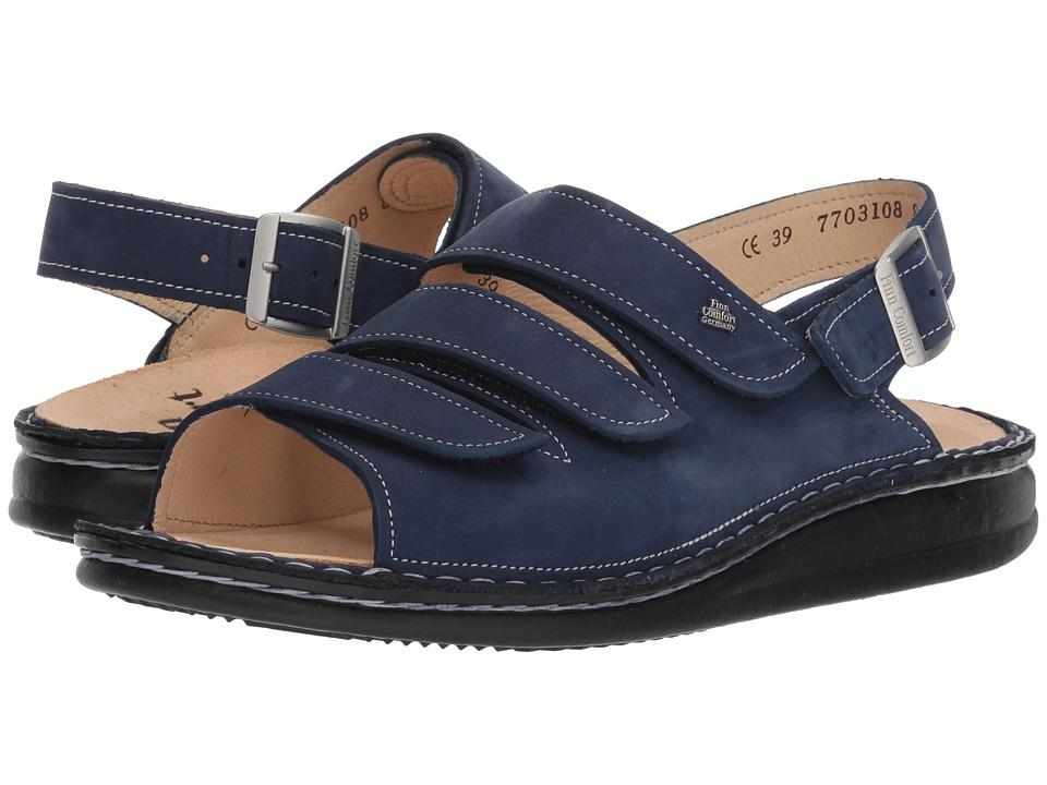 Finn Comfort - Soft Sylt (Metallic Blue) Womens Sandals