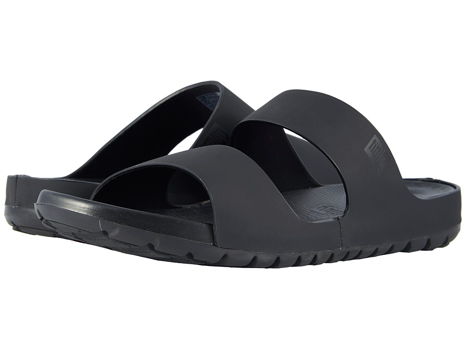 FitFlop - Lido Double Slide Sandals (Black) Mens Sandals