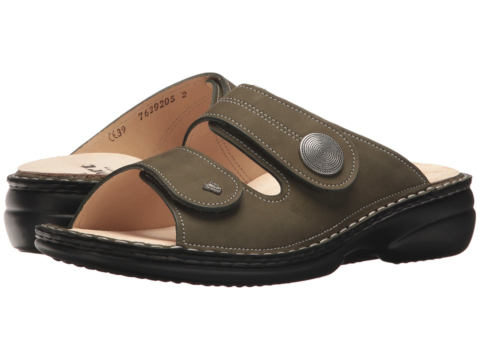 Finn Comfort - Sansibar (Olive) Womens Slide Shoes