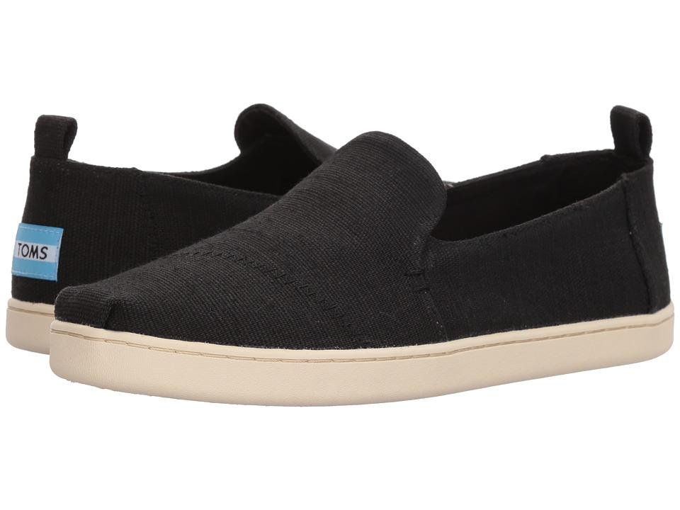 TOMS Deconstructed Alpargata (Black Heritage Canvas) Slip-On Shoes