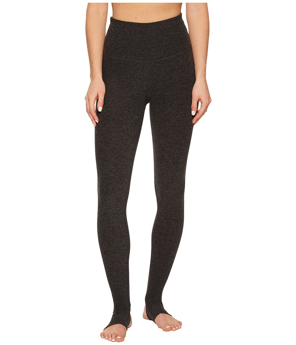 Beyond Yoga - High Waist Stirrup Leggings (Black/Charcoal Spacedye) Womens Casual Pants
