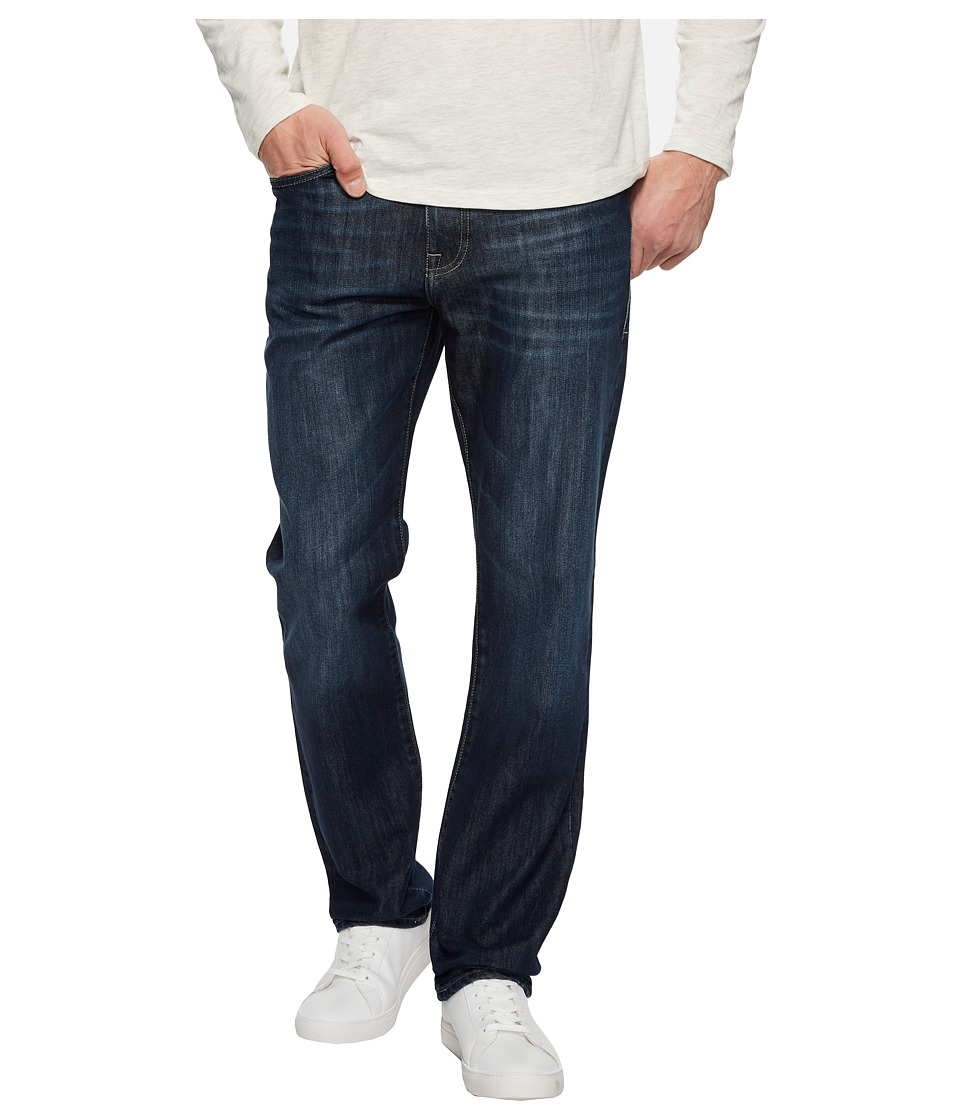 Mavi Jeans Myles Mid-Rise Straight Leg in Deep Brushed Stanford (Deep Brushed Stanford) Men
