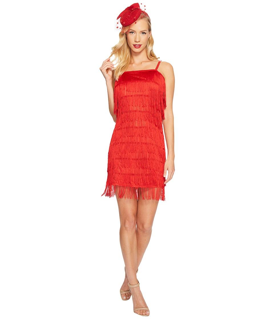 Unique Vintage Speakeasy Flapper Dress (Red) Women