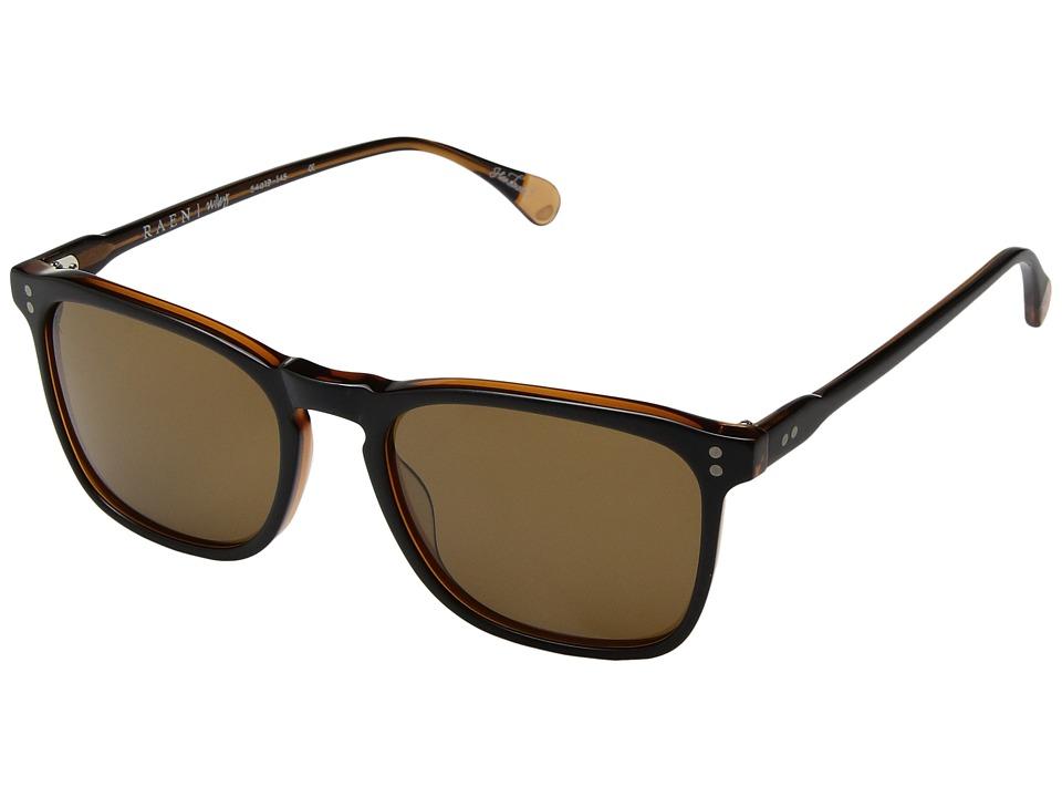 RAEN Optics - Wiley (Black/Tan Brown) Polarized Fashion Sunglasses
