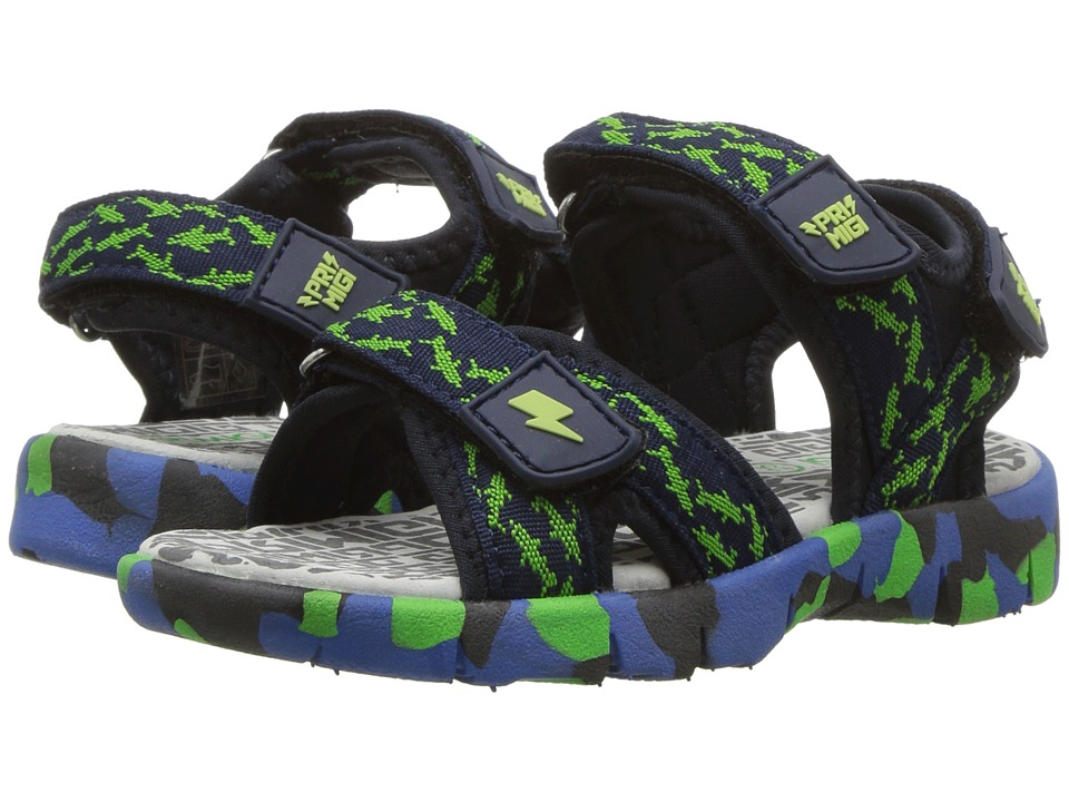 Primigi Kids - PAP 14493 (Toddler/Little Kid) (Navy/Green) Boys Shoes