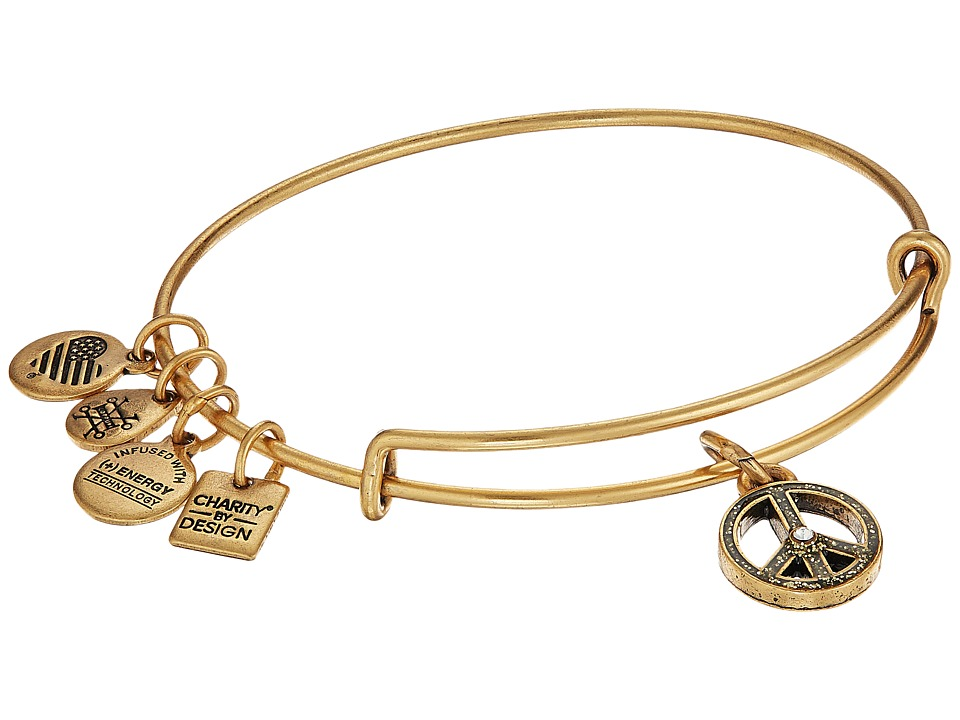 Alex And Ani Charity by Design UNICEF Peace Bangle (Rafaelian Gold) Bracelet