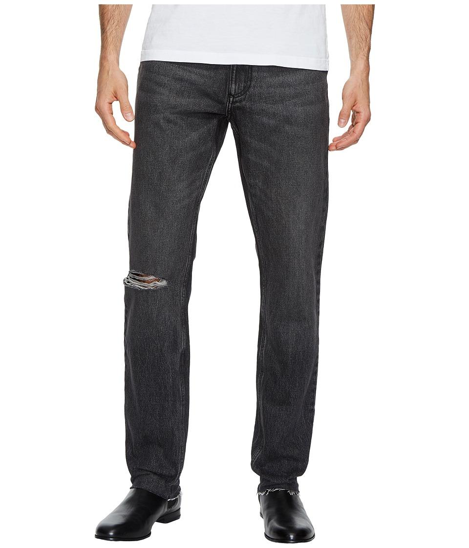 Calvin Klein Jeans Slim Fit Jeans in Elmo Black Raw (Elmo Black) Men