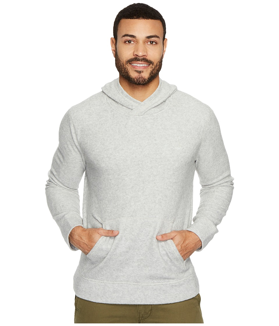 Calvin Klein Jeans Brushed Cozy Crossover Hoodie (Silver Stone Heather) Men