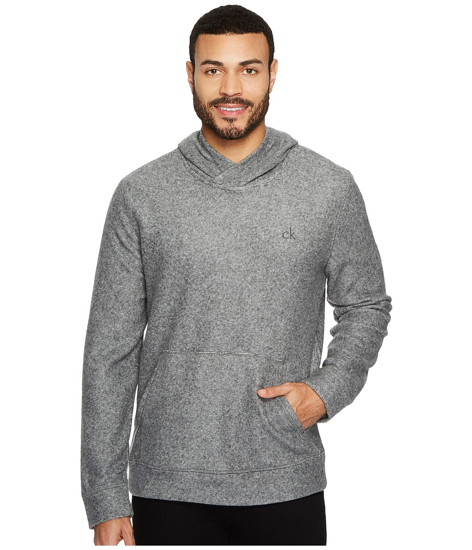 Calvin Klein Jeans Brushed Cozy Crossover Hoodie (Racetrack Heather) Men
