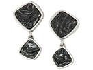 The Sak Double Stone Drop Clip-On Earrings