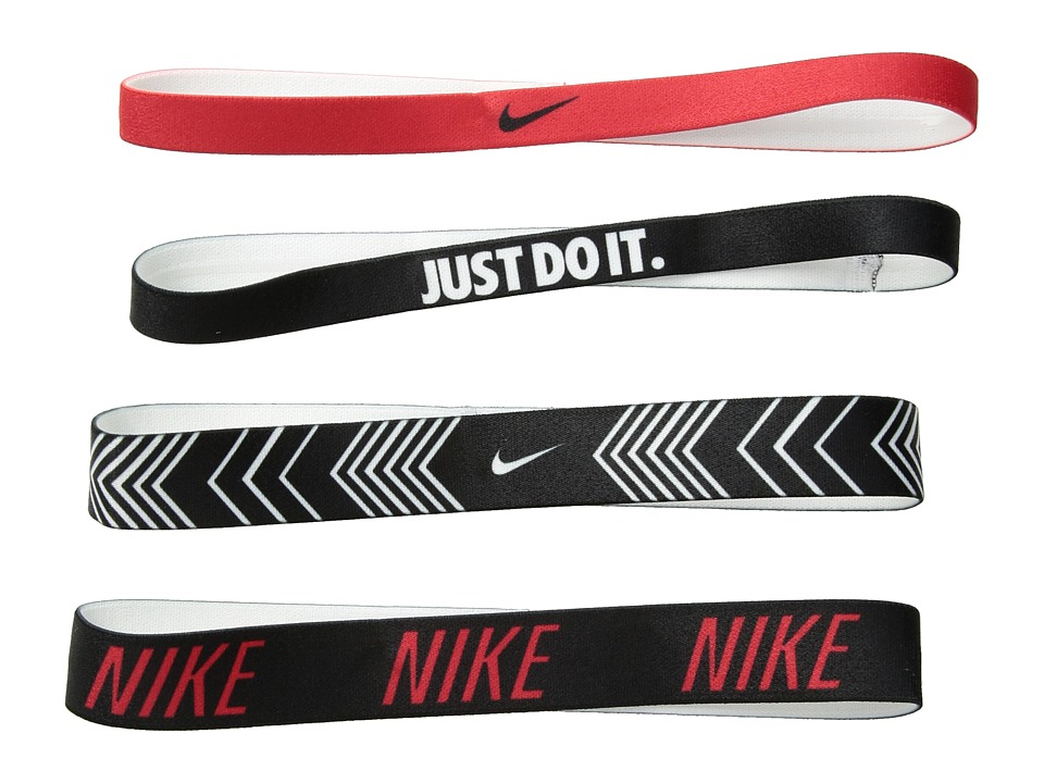 Nike Printed Headbands Assorted 4-Pack (University Red/Bl...
