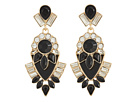 GUESS Clustered Stone Drop Statement Earrings