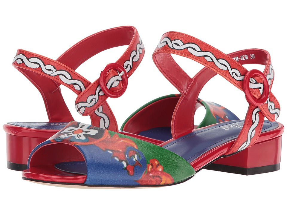 60s Shoes, Boots | 70s Shoes, Platforms, Boots Spring Step - Danette Red Multi Womens Shoes $89.99 AT vintagedancer.com