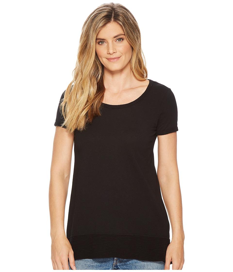 Mod-o-doc - Supreme Jersey Short Sleeve Hi-Low Hem Tee (Black) Womens T Shirt