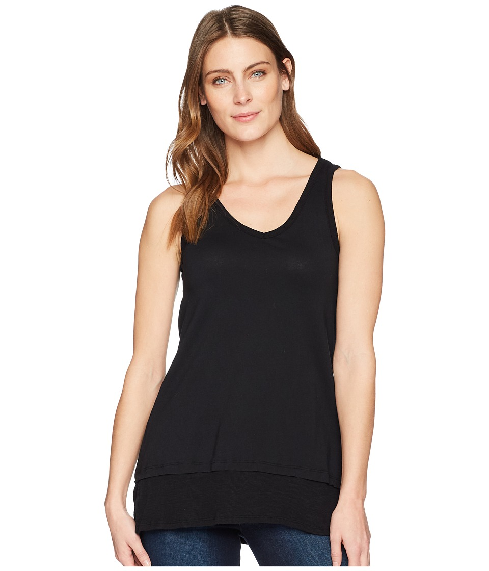 Mod-o-doc - Supreme Jersey Banded Hem Tank Top (Black) Womens T Shirt