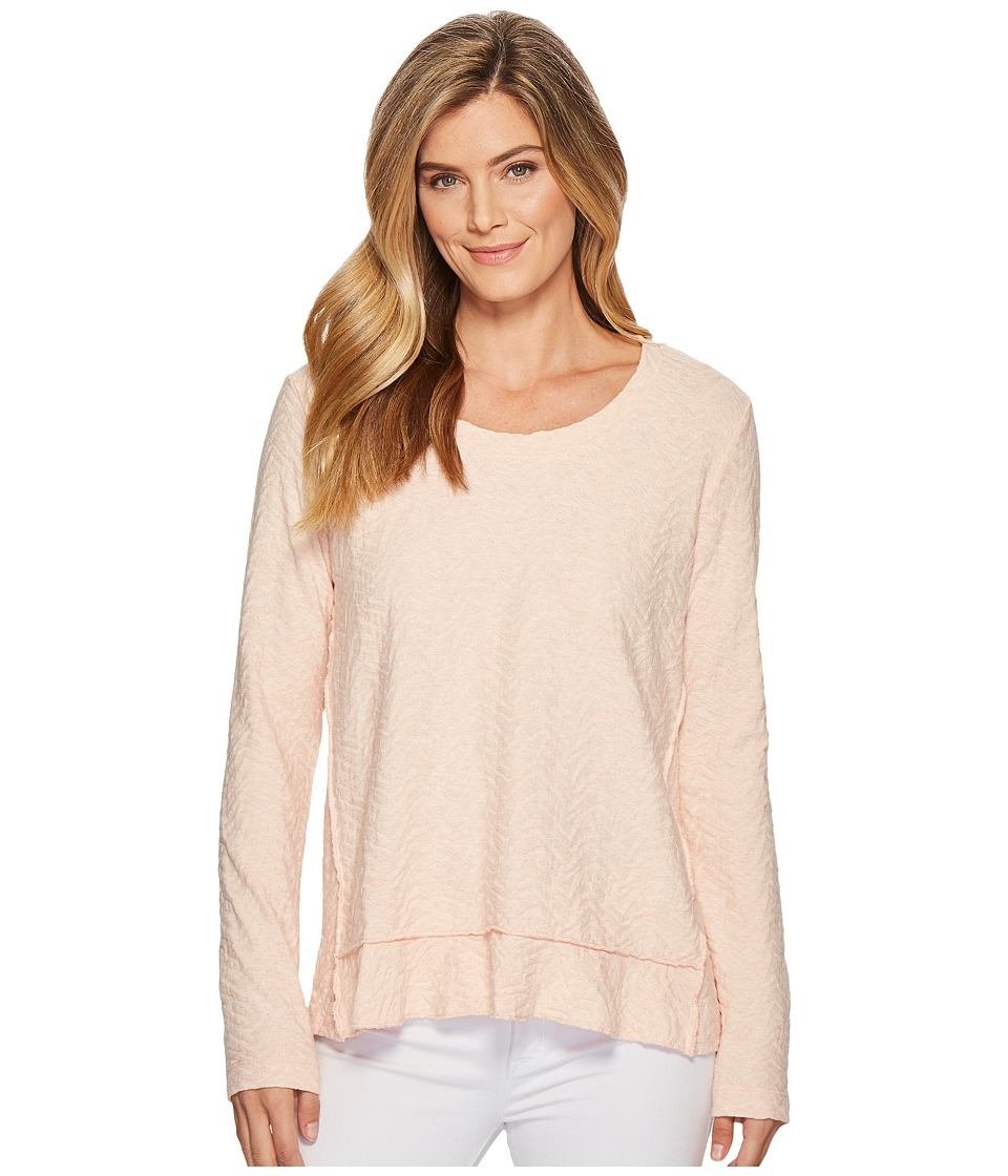 Mod-o-doc - Forward Seam Pullover Jacquard Sweater Knit (Peach) Womens Sweater