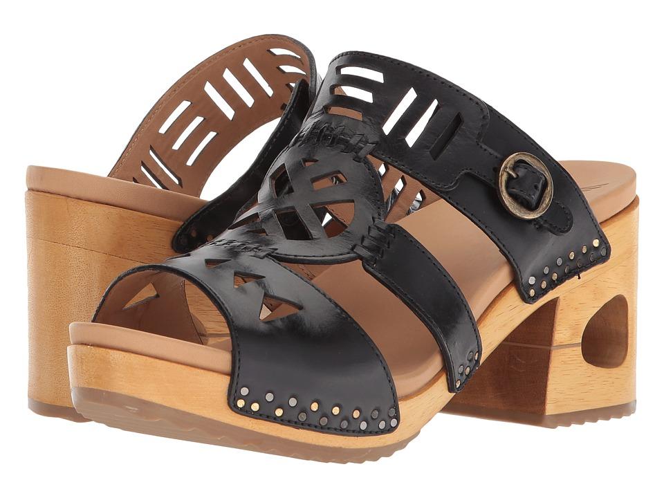 60s Shoes, Boots | 70s Shoes, Platforms, Boots Dansko - Oralee Black Waxy Full Grain Womens ClogMule Shoes $189.95 AT vintagedancer.com