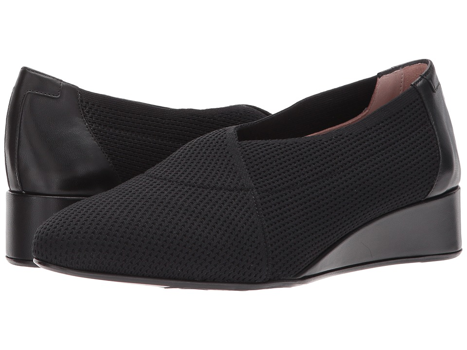 Taryn Rose - Celeste by Taryn Rose Collection (Black Stretch Knit) Womens Slip-on Dress Shoes