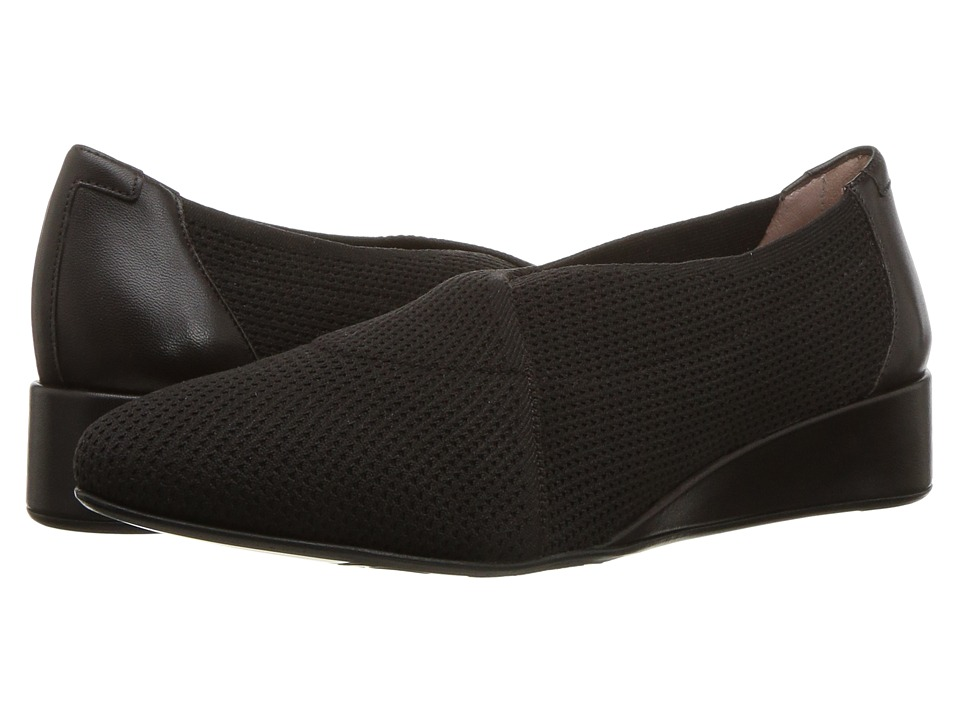 Taryn Rose Celeste by Taryn Rose Collection (Espresso Stretch Knit) Women's Slip-on Dress Shoes
