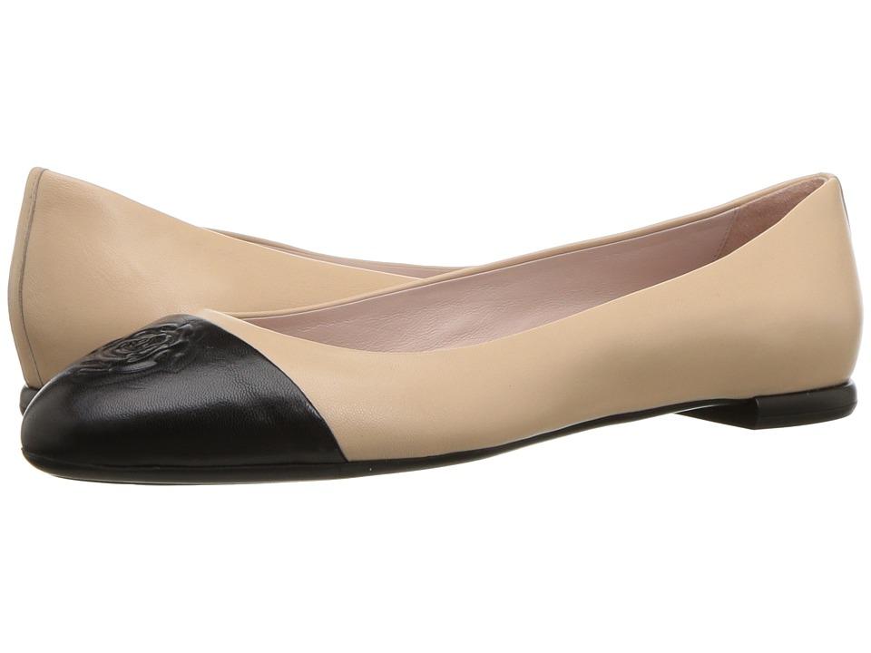 Taryn Rose - Rosa by Taryn Rose Collection (Beige/Black Nappa) Womens Dress Flat Shoes