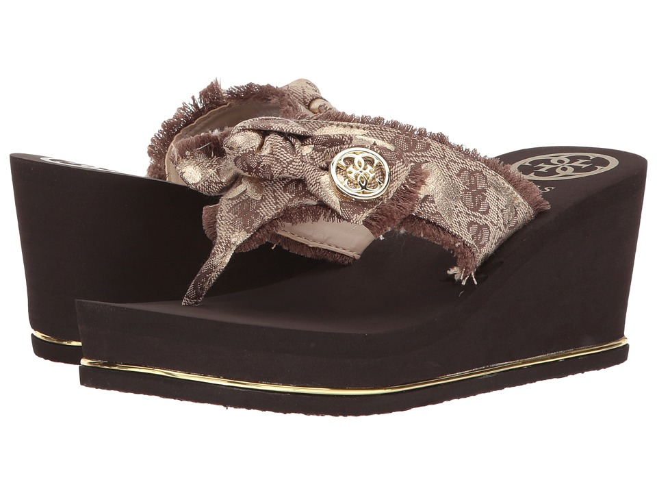 GUESS - Santos (Natural Fabric) Women's Dress Sandals