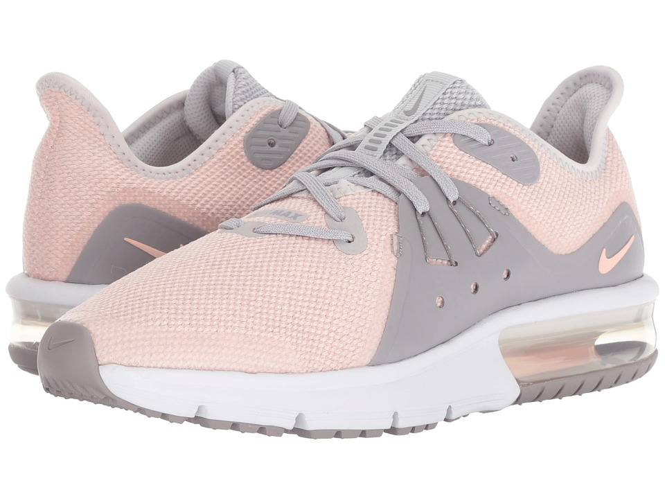 Nike Kids Air Max Sequent 3 (Big Kid) (Vast Grey/Crimson Tint/Atmosphere Grey) Girls Shoes