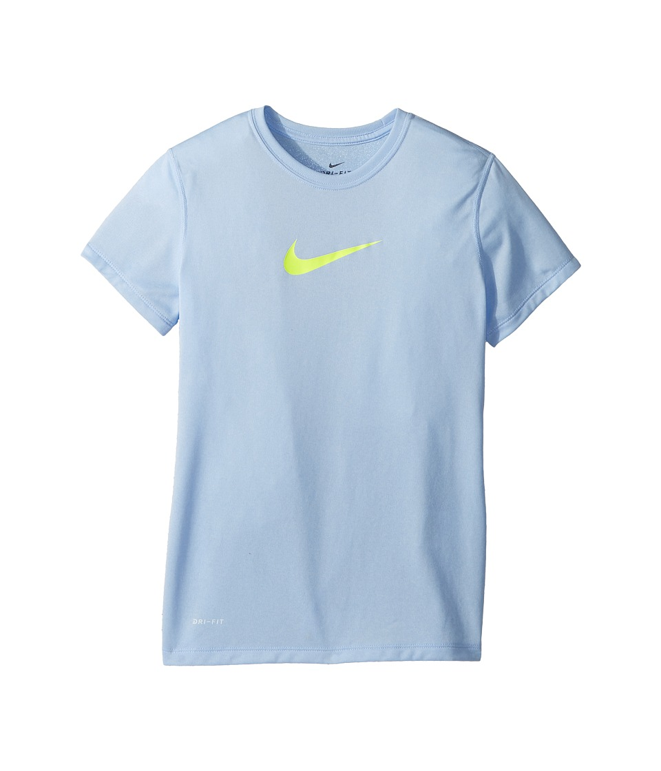 Nike Kids - Legend S/S Top (Little Kids/Big Kids) (Royal Tint/Pure/Volt) Girls T Shirt
