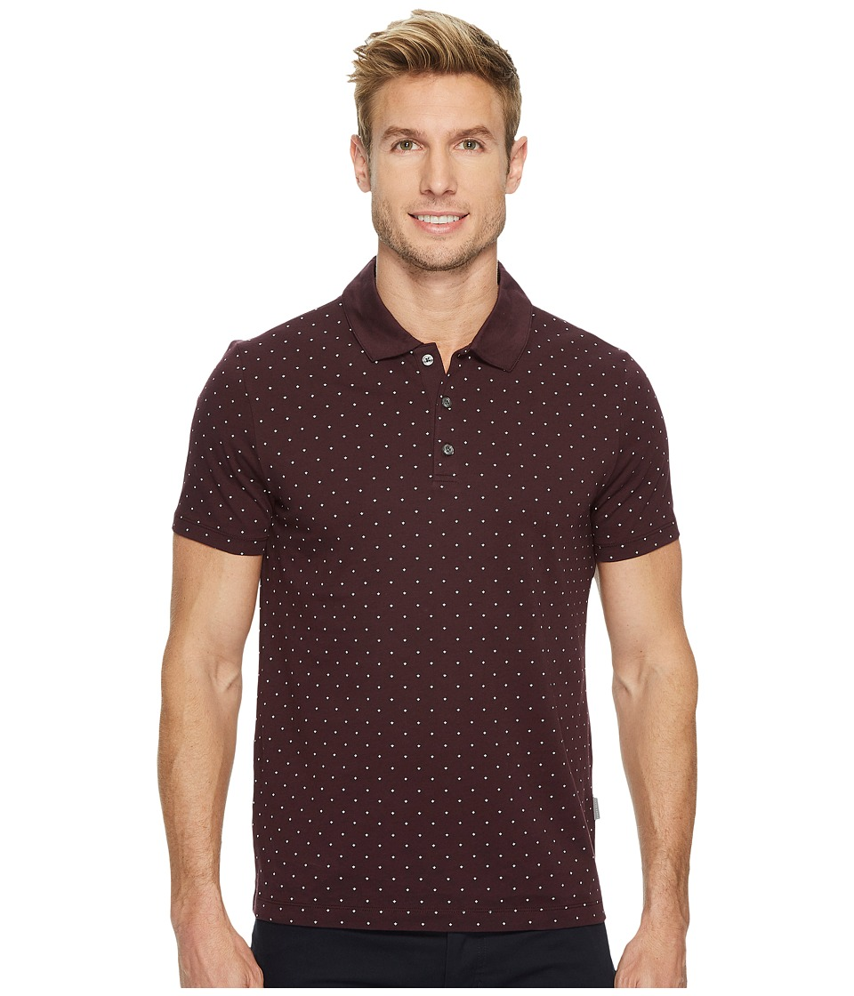 Perry Ellis Perry Ellis - Micro Print Pima Cotton Polo Shirt