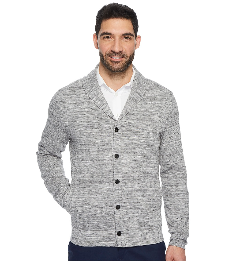 Perry Ellis Button Down Heathered Shawl Cardigan (Alloy) Men