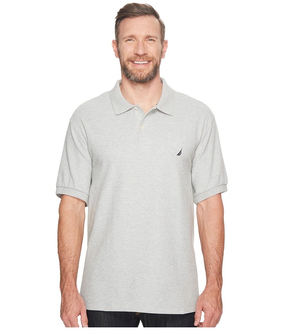 Nautica Big & Tall - Big Tall Anchor Solid Deck Shirt (Grey Heather) Mens Short Sleeve Pullover