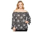 MICHAEL Michael Kors Plus Size Mod Floral Wide Sleeve Top