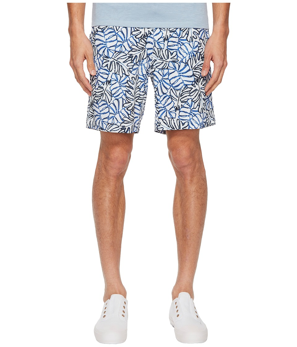 onia Calder 7.5 Tropic Leaves Swim Shorts (White Multi) Men