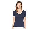 Lacoste Short Sleeve V-Neck Stretch Jersey Trimmed Tee Shirt