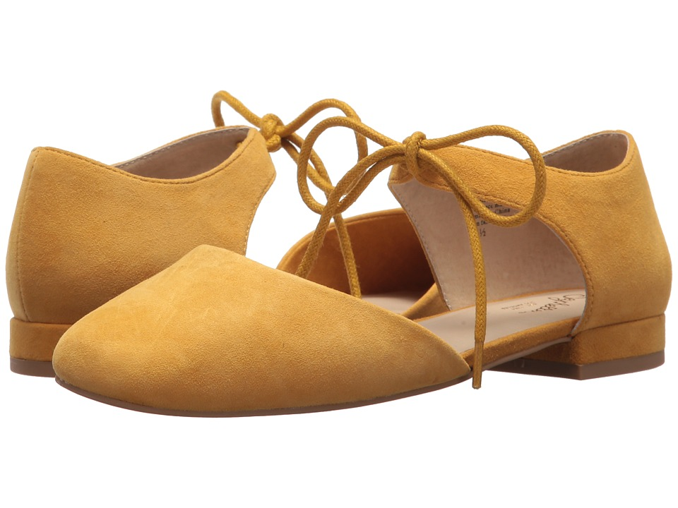 Retro Vintage Flats and Low Heel Shoes Seychelles - Prospect Mustard Suede Womens Flat Shoes $89.95 AT vintagedancer.com