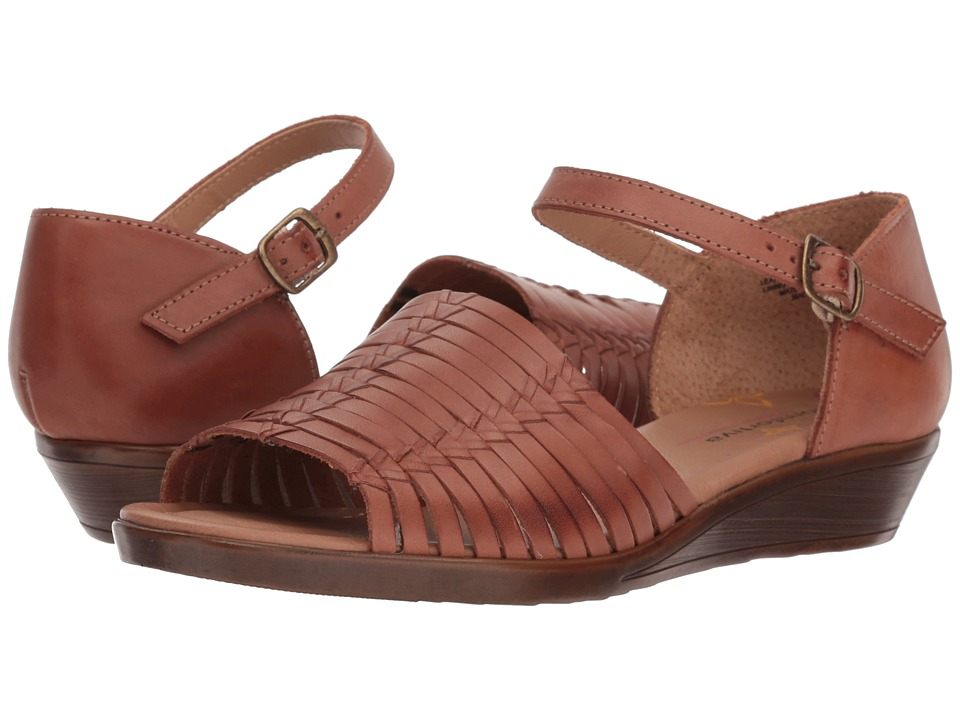 Vintage Sandal History: Retro 1920s to 1970s Sandals Comfortiva Fayann Rust Womens Wedge Shoes $69.95 AT vintagedancer.com