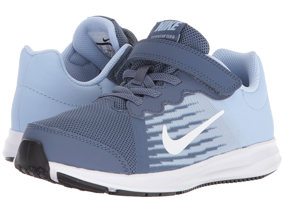 Nike Kids Downshifter 8 (Little Kid) (Diffused Blue/White) Girls Shoes