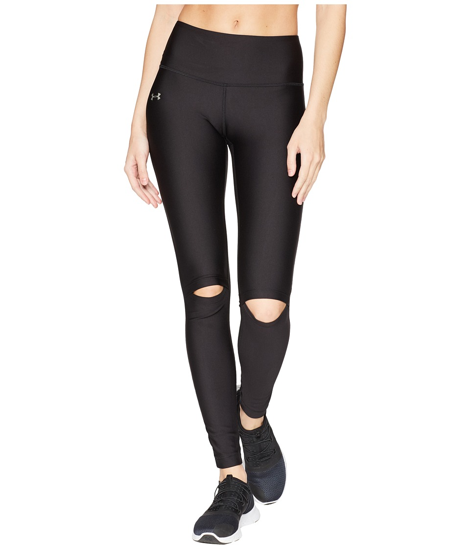 Under Armour - Ripped Tights (Black/Metallic Silver) Womens Workout