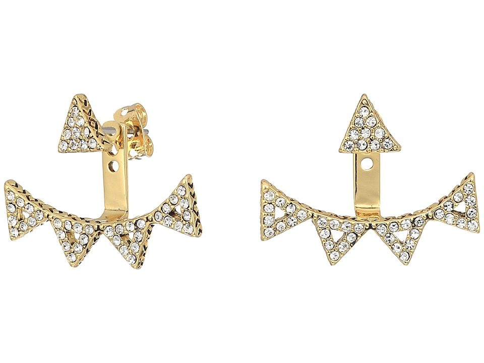 House of Harlow 1960 - Alps Pave Ear Jacket (Gold) Earring