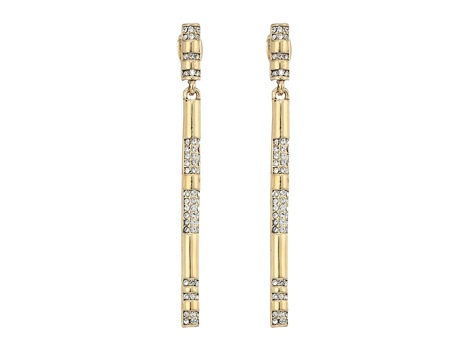 House of Harlow 1960 - Atum Bar Drop Earrings (Gold) Earring