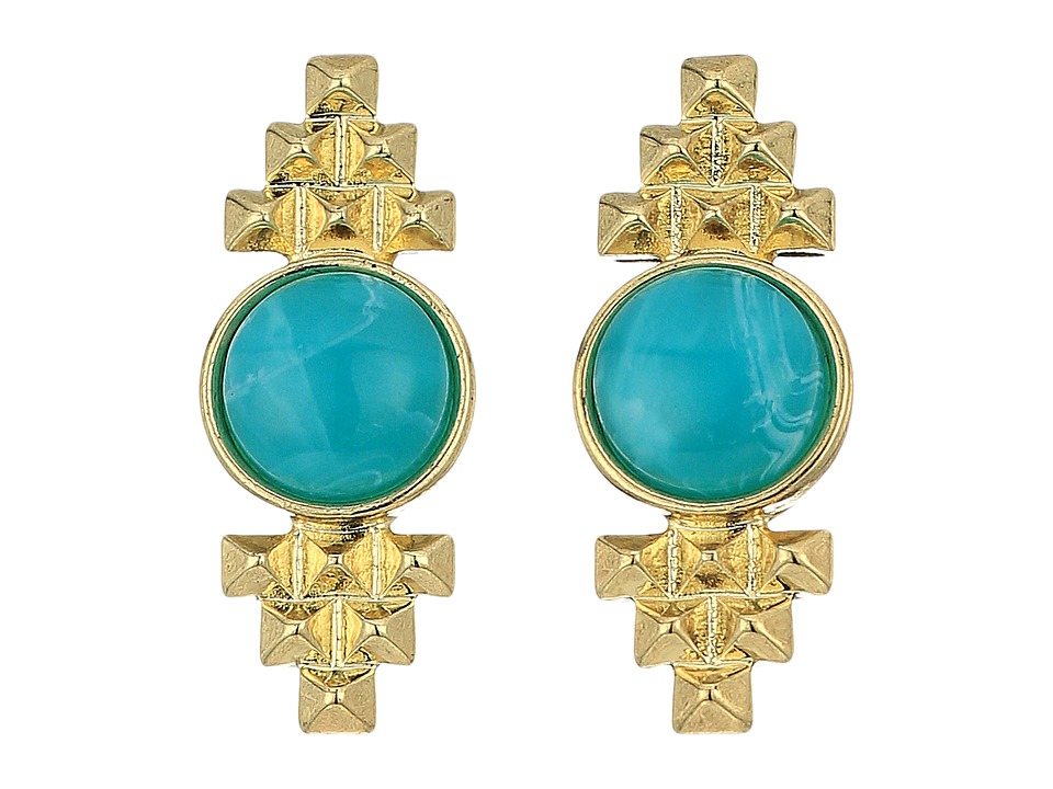 House of Harlow 1960 - Nuri Stud Earrings (Gold) Earring