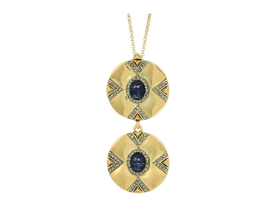 House of Harlow 1960 - Dorelia Double Coin Necklace (Gold) Necklace