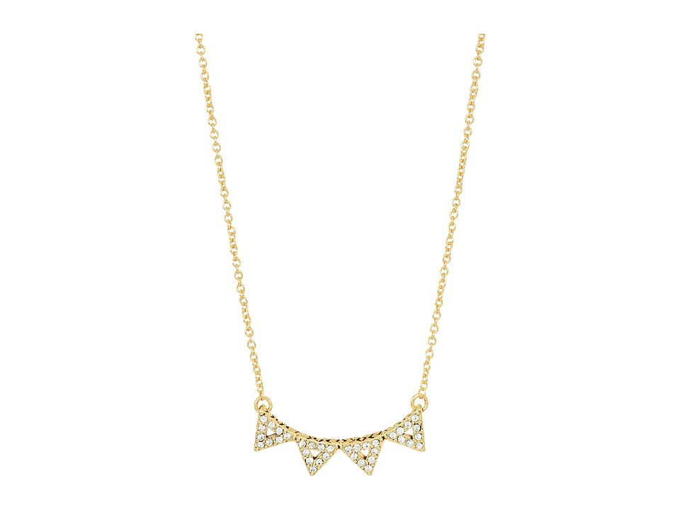 House of Harlow 1960 - Alps Pave Necklace (Gold) Necklace