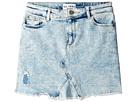DL1961 Kids Acid Rinse Distressed Mini Skirt (Big Kids)