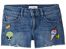 DL1961 Kids Lucy Patch Work Shorts in Almost Famous (Big Kids)