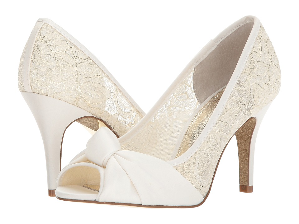 1940s Style Wedding Dresses | Classic Wedding Dresses Adrianna Papell - Francesca Ivory High Heels $119.00 AT vintagedancer.com